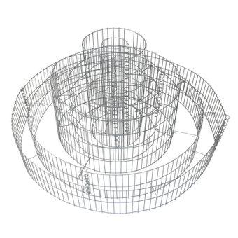 Gabione 3-fach-Ring 20x120/40x70/60x30 cm – Bild $_i