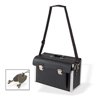 Elektriker Leder Werkzeugkoffer Elektrikerkoffer Werkzeugtasche Koffer leer – Bild $_i