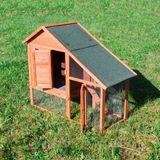 Kaninchenstall Hasenstall Kleintierstall Hasenhaus Kaninchenhaus XXL mit Auslauf