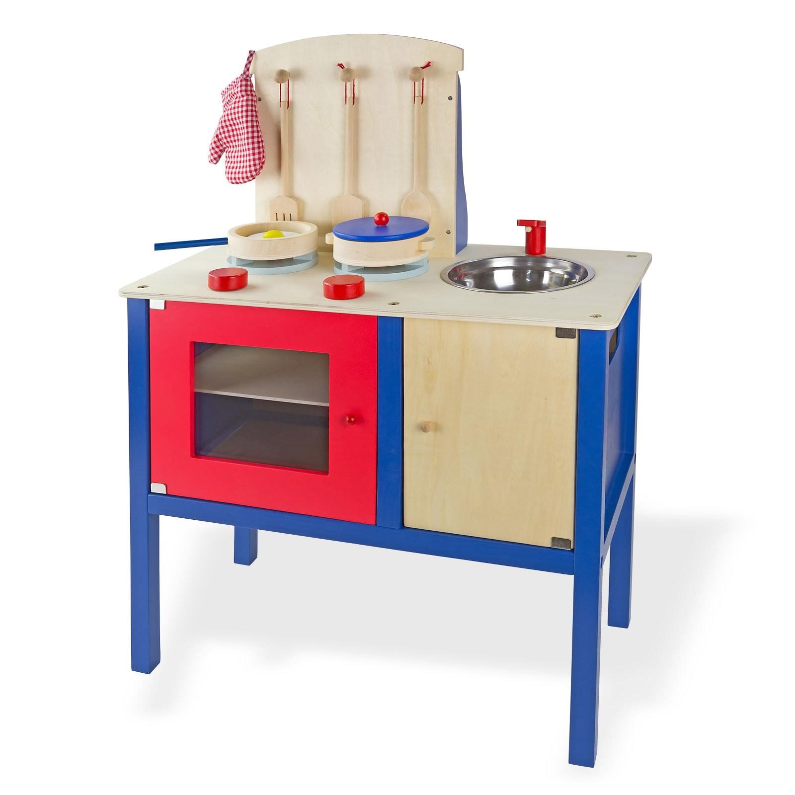 Dema Kinderküche / Spielküche aus Holz mit Zubehör 12299