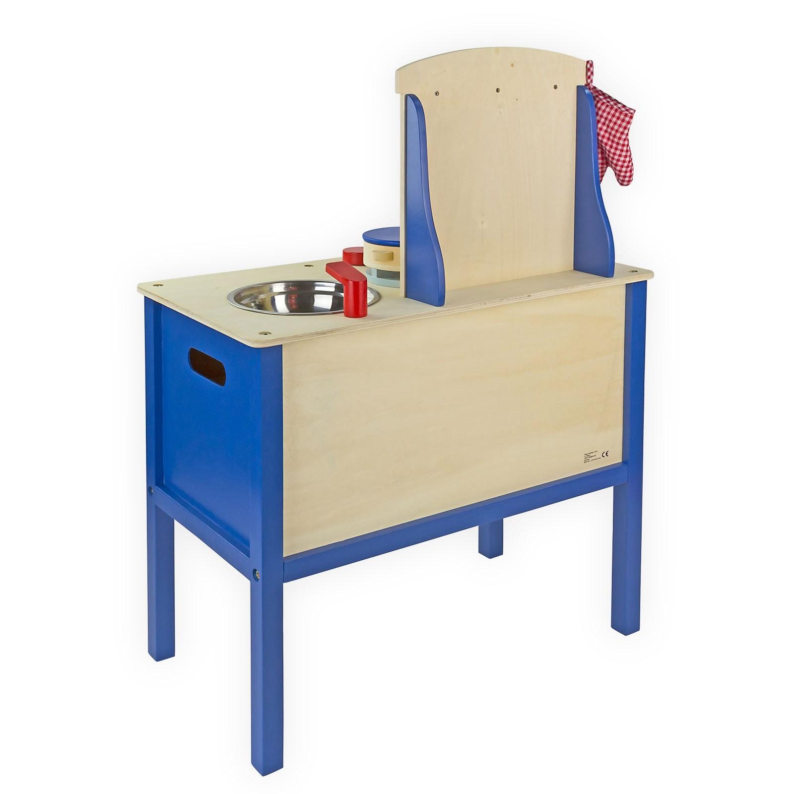 Kinderküche aus Holz mit Zubehör Küche Spielküche Holzküche für ...