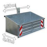 Heckcontainer / Heckmulde 150 cm verzinkt Kat 1 + 2