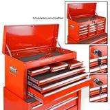 Werkstattwagen / Werkzeugwagen mit Kofferaufsatz im Set 8+