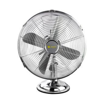 Tischventilator / Ventilator Chrom 30 cm 3 Geschwindigkeitsstufen