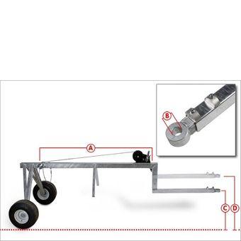 Rückewagen / Stammholzwagen 700 kg Holz – Bild $_i