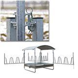 Heuraufe / Futterraufe mit Dach - 12 Fressplätze