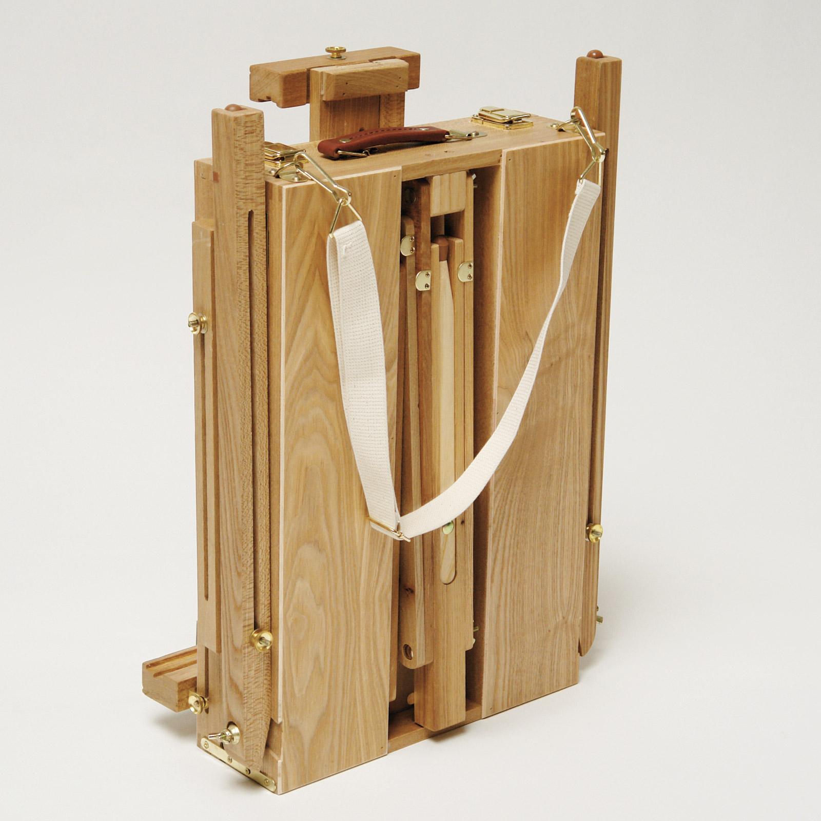 dema Staffelei / Atelierstaffelei / Feldstaffelei aus Holz mit Zubehör 90600