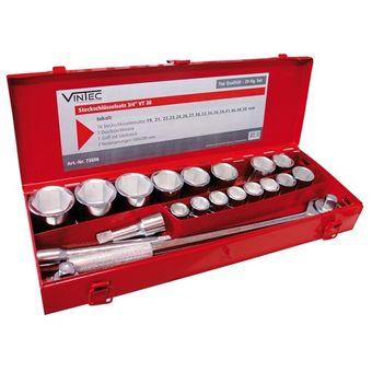 Vintec Steckschlüsselsatz 3/4 Zoll / 20 Teile