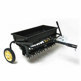 Rasenlüfter / Vertikutierer mit Streuwagen für Rasentraktor