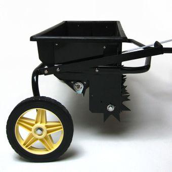 Anhänger Rasenlüfter Rasenbelüfter Vertikutierer Aerifizierer mit Streuwagen – Bild $_i