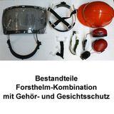 Forsthelm / Forstschutzhelm 54-63 cm orange normgerecht PSA-Forst