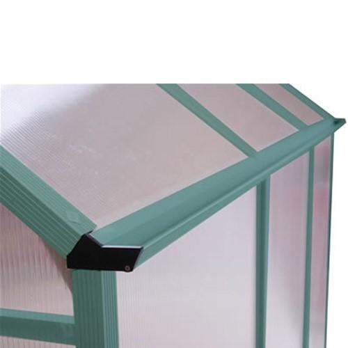 aluminium gew chshaus treibhaus 3 4 qm gr n 185x180x230 cm. Black Bedroom Furniture Sets. Home Design Ideas