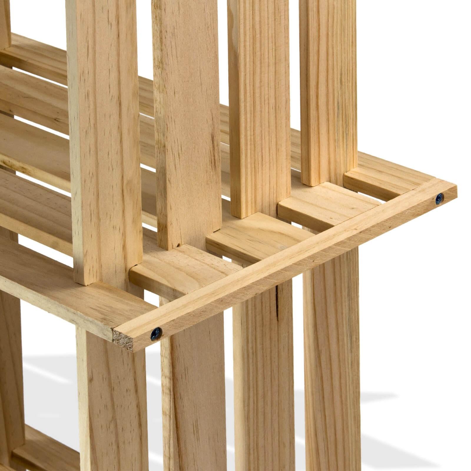 design b cherregal standregal raumteiler aus holz 6 w rfel. Black Bedroom Furniture Sets. Home Design Ideas