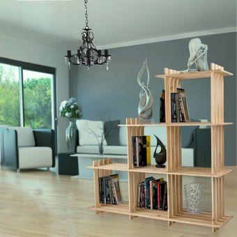 Design Bücherregal / Standregal Raumteiler aus Holz, 6 Würfel – Bild $_i