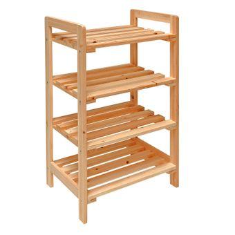 Holzregal / Haushaltsregal mit 4 Böden 45x33x79cm