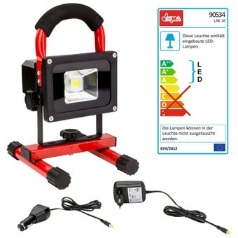 LED Arbeitsleuchte / Scheinwerfer LAK10 + Akku – Bild $_i