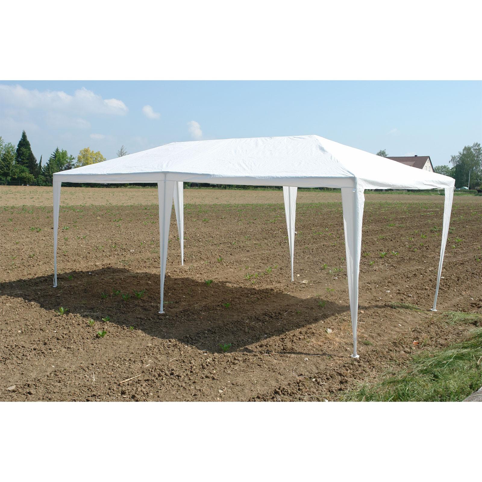 Partyzelt Festzelt Pavillon Weiß 3x6 M Mit 6 Seitenteilen