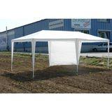 Partyzelt / Festzelt Pavillon Weiß 3x6 m mit 6 Seitenteilen