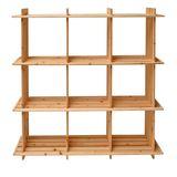 Holzregal / Universalregal aus Massivholz 9 Fächer 113x27x110