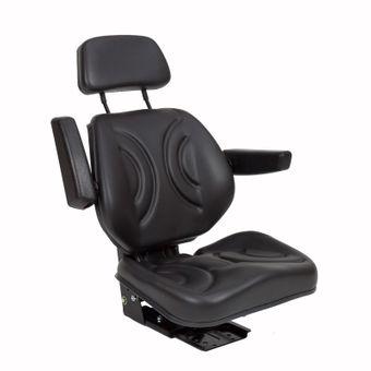 Traktorsitz Schleppersitz ST11BS-07BE m. Armlehne Kopfstütze