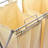 Wäschesortierer / Wäschesammler Metall mit 3 Fächern