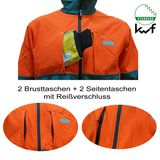 KWF FPA Forstjacke Softshell grün-orange S - 2XL Forst-Jacke
