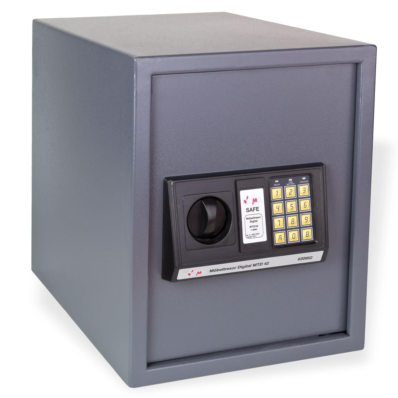 Dema Möbeltresor / Wandtresor Digital 42 Liter 30x37x38 cm 20952