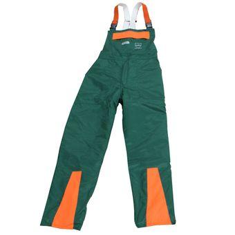 KWF FPA Forst Schnittschutz-Latzhose EN 381 Class1 grün-orange – Bild $_i
