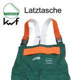 KWF FPA Forst Schnittschutz-Latzhose EN 381 Class1 grün-orange