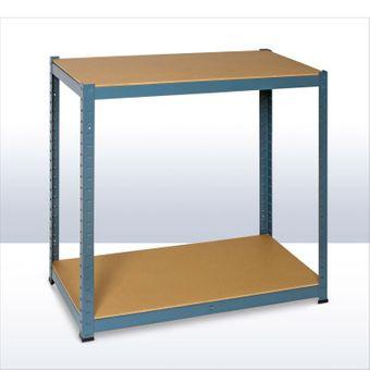 Steckregal / Kellerregal verzinkt mit 5 Holzböden 180x90x45 cm – Bild $_i