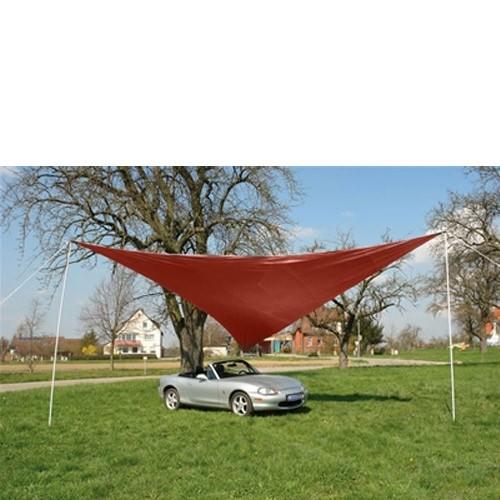 Dema Sonnensegel Dreieck rot 5 x 5 x 5 m Tragetasche Sonnenschutz Beschattung 43200