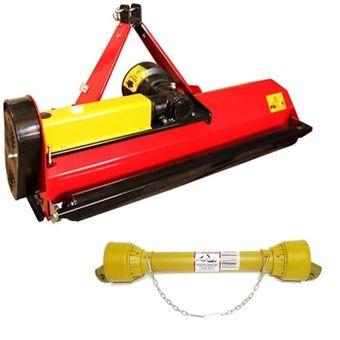 SET Schlegelmulcher SLM 135 mit Y-Messer für Traktoren 30-40 PS + Zapfwelle – Bild $_i