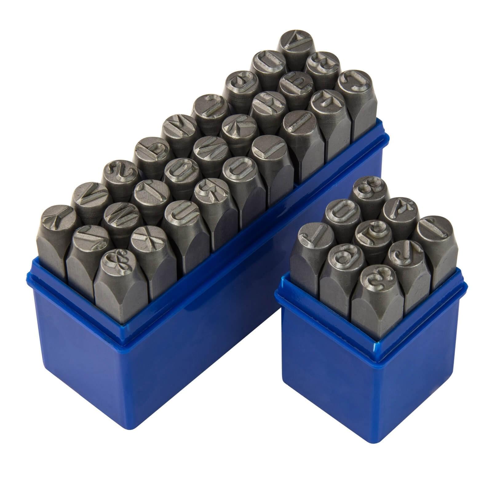 Dema Schlagzahlen und Schlagbuchstaben Zahlenstempel Schlag Stempelset 10 mm 36-tlg 18501