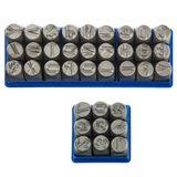 Schlagzahlen und Schlagbuchstaben Set 10 mm 36-tlg