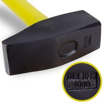 Vorschlaghammer 4 kg, Länge 90 cm, Stiel mit Glasfaserkern – Bild $_i