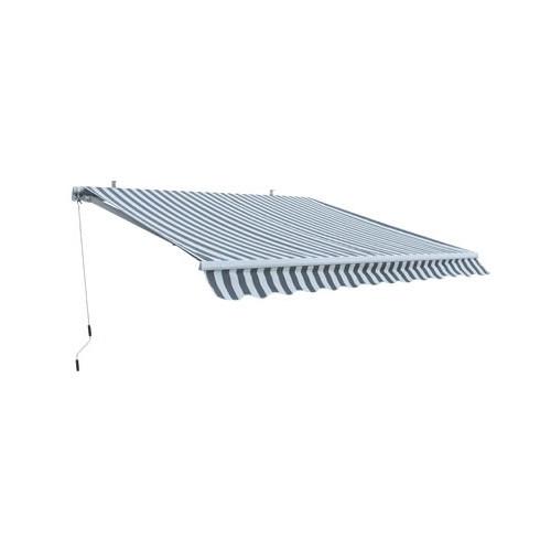 Dema Alu Markise grau / weiß 3 x 2,5 m Gelenkarmmarkise 41020