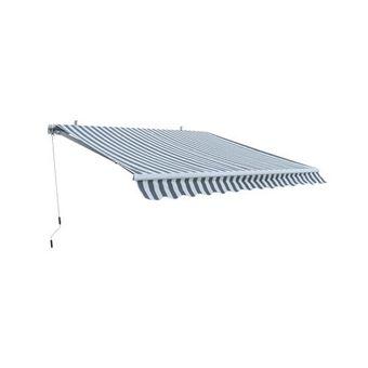 Alu Markise grau / weiß 3 x 2,5 m Gelenkarmmarkise Sonnenschutz Sichtschutz – Bild $_i