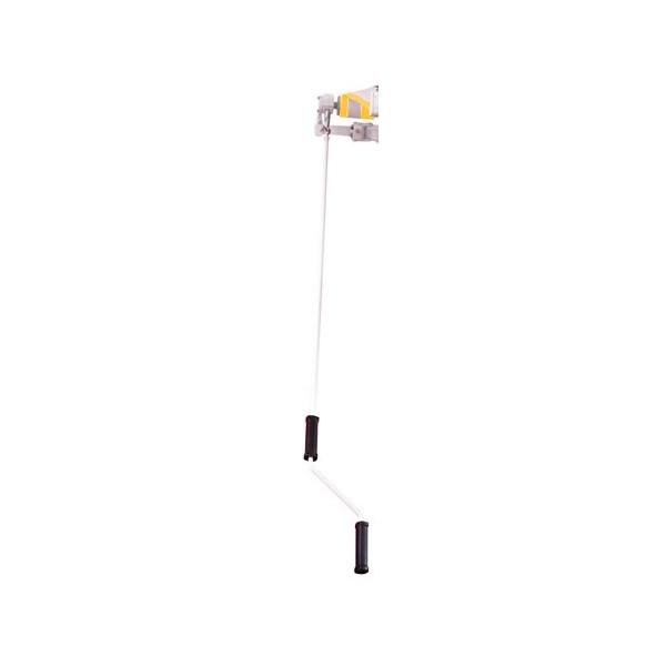 alu markise gelb wei 3 x 2 5 m. Black Bedroom Furniture Sets. Home Design Ideas