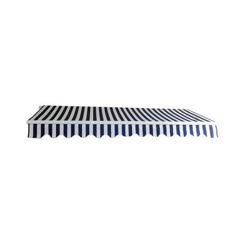 Dema Alu Markise blau / weiß 3 x 2,5 m Gelenkarmmarkise Sonnenschutz Sichtschutz 41027