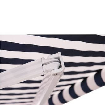 Alu Markise blau / weiß 3 x 2,5 m – Bild $_i