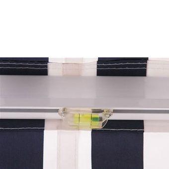 Alu Markise blau / weiß 3 x 2,5 m Gelenkarmmarkise Sonnenschutz Sichtschutz – Bild $_i
