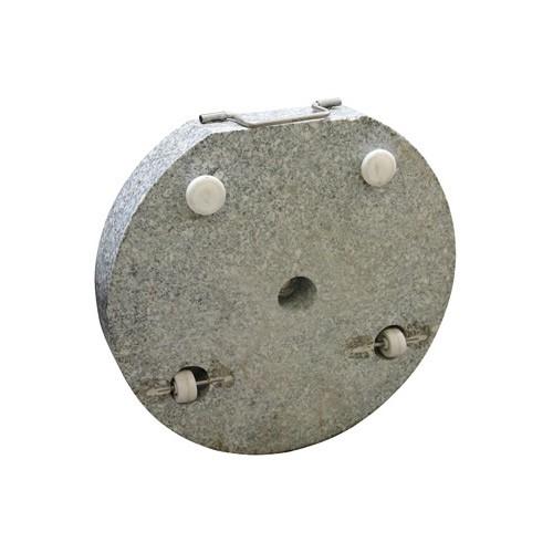 Dema Sonnenschirmständer / Schirmständer rund 45 cm Granit grau 30 kg Schirmfuß 41244