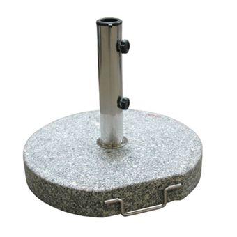 Sonnenschirmständer / Schirmständer rund 45 cm Granit grau 30 kg