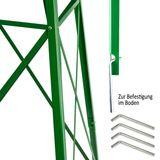 Deko Garten Windrad H: 245 cm grün Nostalgie Westernwindrad