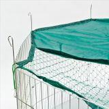 Freilaufgehege / Freigehege Ø 137 cm für Hasen, Kaninchen mit Schutznetz