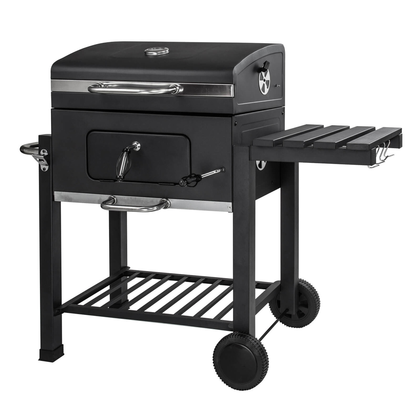 grillwagen holzkohlegrill houston mit trolley. Black Bedroom Furniture Sets. Home Design Ideas