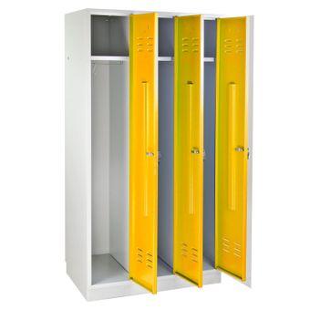 ADB Garderobenschrank Spind 3-türig gelb 1775x890x500 mm – Bild $_i