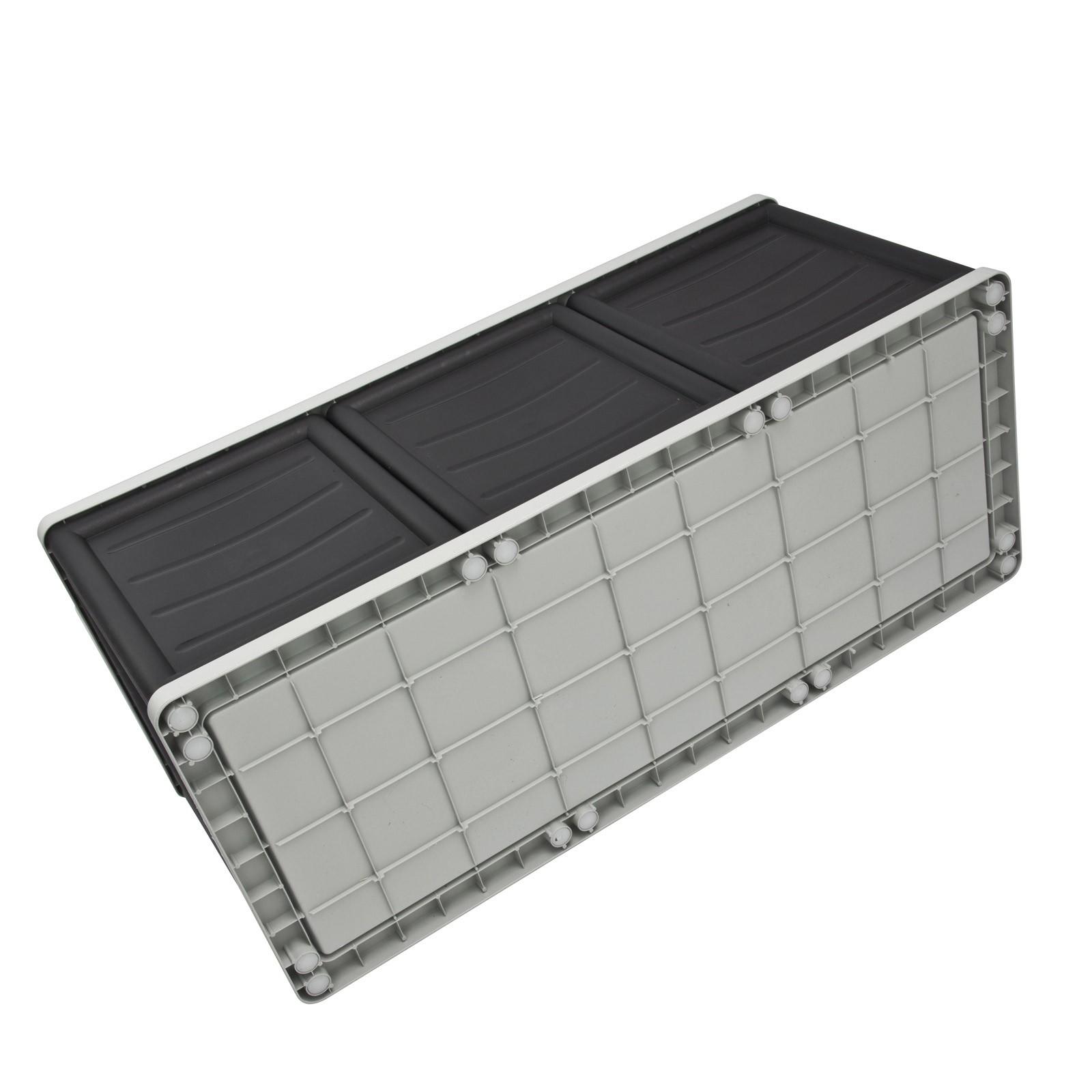 universalbox gartenbox 170l schwarz grau deckel. Black Bedroom Furniture Sets. Home Design Ideas