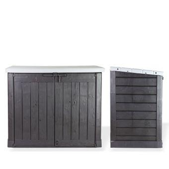 Mülltonnenbox / Mülltonnen Sichtschutz XL für 2x240 Liter Behälter – Bild $_i