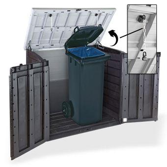 Mülltonnenbox / Mülltonnen Sichtschutz XL für 2x240 Liter Behälter